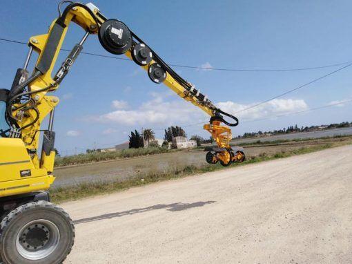 Fraiseuse Belafer pour le nettoyage des canaux, des fossés et de l'irrigation