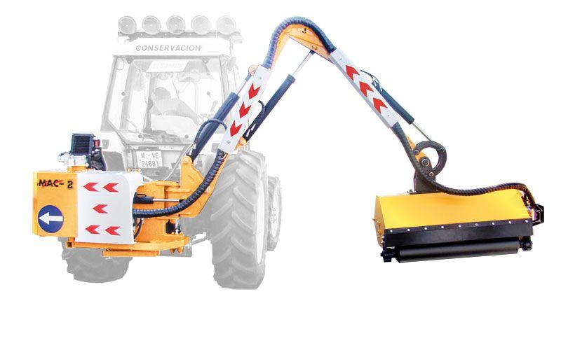 Desbrozadoras articuladas de brazo hidráulico para mantenimiento de carreteras, autopistas, caminos vecinales, obra civil y espacios verde en general.