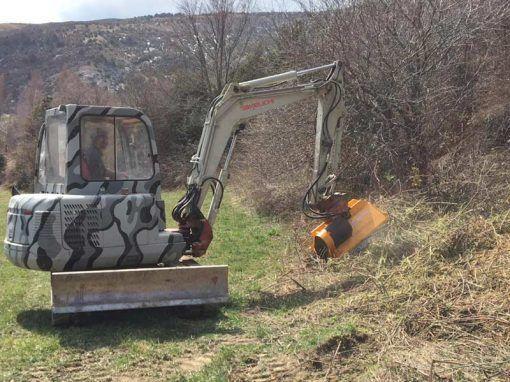 Cabecales CAB-L retromixtas excavadoras trabajando