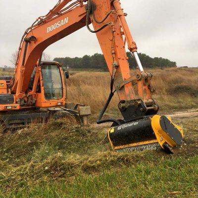 Cabezal CAB-FA flotante para excavadoras